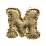 Linen Vintage Cloth Letter M Isolated On White Posters by  smaglov