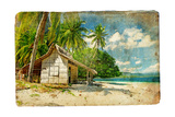 Tropical Bungalow-Retro Styled Picture Prints by  Maugli-l