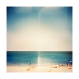 Retro Medium Format Photo. Sunny Day On The Beach. Grain, Blur Added As Vintage Effect Art by  donatas1205