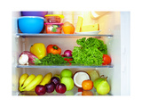 Refrigerator Full Of Healthy Food. Fruits And Vegetables Prints by  olesiabilkei