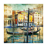 Romantic Venice - Artwork In Painting Style Art by  Maugli-l
