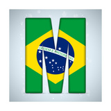 Brazil Flag Brazilian Alphabet Letters Words Posters by  gubh83