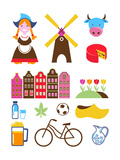 Collection Of Netherlands Icons Plakater av  Marish