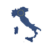 European Flag Map Of Italy Isolated On White Background Posters by  Speedfighter