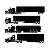 Detailed Trucks Silhouettes Set Posters by  Mechanik