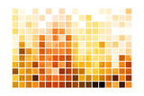Orange Cubic Professional Abstract Background Posters by  kentoh