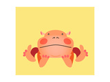 Cute Kawaii Animalistic Cartoon Character Prints by  meganeura