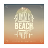 Summer Beach Party Typography Background For Summer Prints by  Melindula