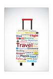 The Universal Travel Bag Concept Illustration Using The Most Used Travel Terminologies In The Shape Posters by  Harisha