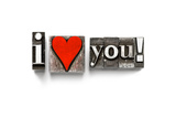 I Love You Photographed Using Vintage Letterpress Type Prints by  Space-Heater