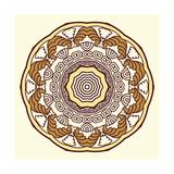 Round Decorative Design Element Premium Giclee Print by  epic44