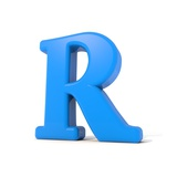 3D Alphabet, Letter R Isolated On White Background Prints by Andriy Zholudyev
