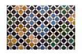 Colorful Tiles, Arabic Style, In The Alhambra, Granada Reprodukcje autor ArtOfPhoto