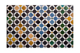 Colorful Tiles, Arabic Style, In The Alhambra, Granada Prints by  ArtOfPhoto