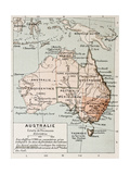 Australia Old Map. By Paul Vidal De Lablache, Atlas Classique, Librerie Colin, Paris, 1894 Prints by  marzolino