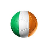 Soccer Football Ball With Ireland Flag Premium Giclee Print by  daboost