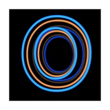 Glowing Letter O Isolated On Black Background Posters by Andriy Zholudyev