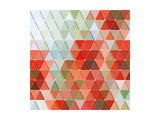 Colorful Triangles Pattern Art by Maksim Krasnov