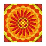 Floral Mandala Drawing Sacred Circle Poster by  AGCuesta