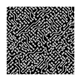Electronic Monochrome Black And White Background Texture Premium Giclee Print by  pzAxe