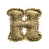 Linen Vintage Cloth Letter H Isolated On White Prints by  smaglov