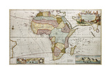 Africa Old Map. Created By Frederick Herman Moll, Published In London, 1710 Plakater af marzolino