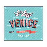 Vintage Greeting Card From Venice - Italy Posters by  MiloArt