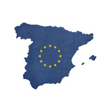 European Flag Map Of Spain Isolated On White Background Art by  Speedfighter
