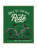 studiohome - Vintage Retro Race Rider Bicycle With Label 2 - Art Print