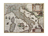 Italy Old Map. Created By Henricus Hondius, Published In Amsterdam, 1631 Prints by  marzolino