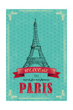 Eiffel Tower For Retro Travel Poster Prints by  stockshoppe