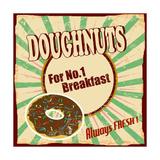 Doughnuts Vintage Poster Prints by  radubalint