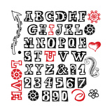 Hand Drawn Alphabet Isolated On White Background Posters by Andriy Zholudyev
