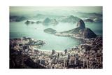 Rio De Janeiro, Brazil. Suggar Loaf And Botafogo Beach Viewed From Corcovado Art par Mariusz Prusaczyk