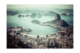 Rio De Janeiro, Brazil. Suggar Loaf And Botafogo Beach Viewed From Corcovado Art by Mariusz Prusaczyk