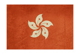 Grunge Sovereign State Flag Of Dependent Country Of Hong Kong In Official Colors Prints by  Speedfighter