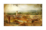 Ancient Town Lucca- Tuscany - Retro Styled Picture Prints by  Maugli-l