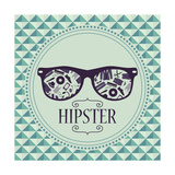 Hipster Card Glasses With Various Clothing And Accessories Posters by  paw23