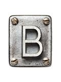 Old Metal Alphabet Letter B Posters by  donatas1205