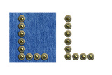 Jeans Rivet Alphabet Letter L. On Jeans Background And Isolated Posters by  donatas1205