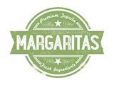 Premium Margaritas Cocktail Bar Menu Stamp Affiches par  daveh900