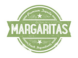 Premium Margaritas Cocktail Bar Menu Stamp Prints by  daveh900
