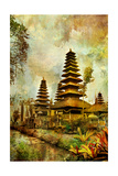 Balinese Temple - Artwork In Painting Style Poster by  Maugli-l