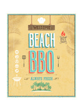 Vintage Beach Bbq Poster Affiches par  avean