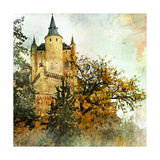 Medieval Castle Alcazar, Segovia,Spain- Picture In Painting Style Prints by  Maugli-l