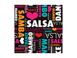 Seamless Salsa And Other Dance Type And Style Pattern Prints by Maaike Boot
