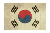 Grunge Sovereign State Flag Of Country Of South Korea In Official Colors Posters by  Speedfighter
