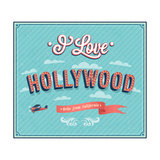 Vintage Greeting Card From Hollywood - California Poster by  MiloArt