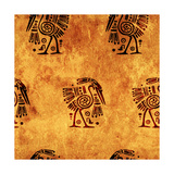 Seamless Background With American Indian Traditional Patterns Premium Giclee Print by  frenta