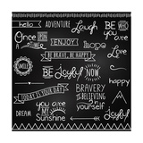 Hand Drawn Chalkboard Style Words, Quotes And Decoration Print by Pink Pueblo